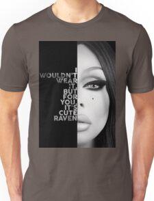 Raven Text Portrait Unisex T-Shirt