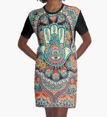 Hamsa Hand T-Shirt Kleid