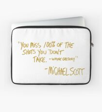 The Office Wayne Gretzky Quote Gold Laptop Sleeve