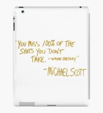 The Office Wayne Gretzky Quote Gold iPad Case/Skin