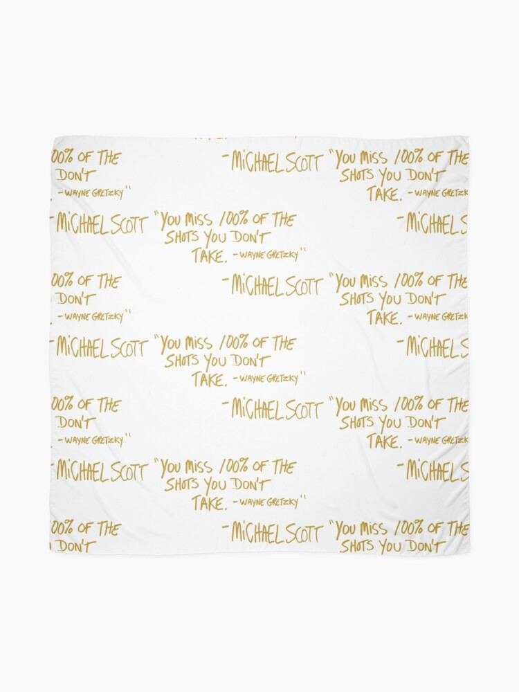 Alternate view of The Office Wayne Gretzky Quote Gold Scarf