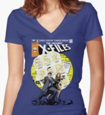 The Uncanny X-Files Women's Fitted V-Neck T-Shirt