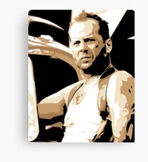 Bruce Willis Vector Illustration Canvas Print