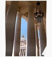 The Colonnade of the Piazza San Pietro Poster