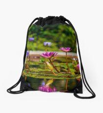 The Lilly Pond Drawstring Bag