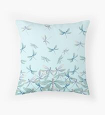 Dragonfly Blue Throw Pillow