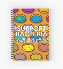 Support Bacteria Spiral Notebook
