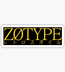 ZOTYPE - retro style slap sticker Sticker