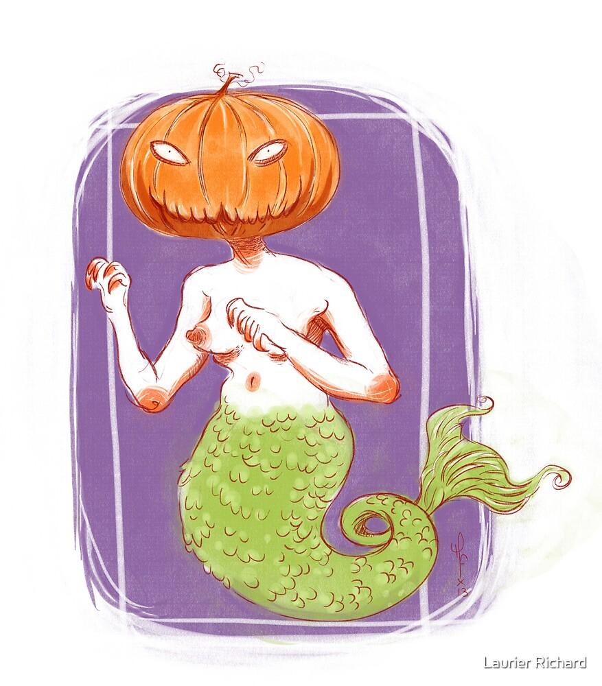 Pumpkin mermaid by Laurier Richard