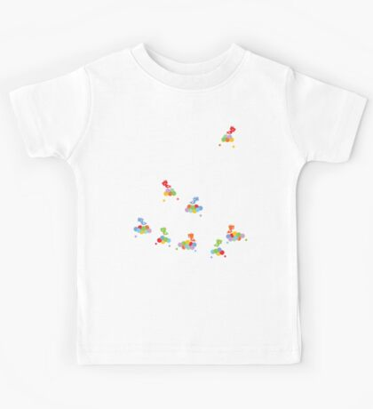 Colorful Tweet Birds On White Branches Kids Clothes