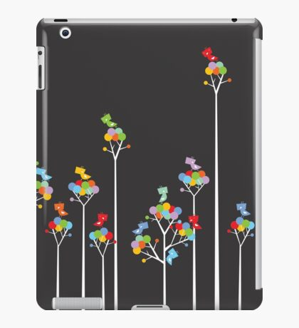 Colorful Tweet Birds On White Branches iPad Case/Skin