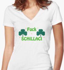 Fuck Schillaci Women's Fitted V-Neck T-Shirt