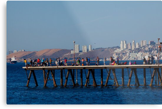 Pier on a Sunny Summer Day  by elisehendrick