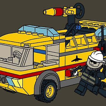 The Lego Airport Fire Truck 7891 by mecanolego