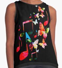 Musik und Schmetterlinge Kontrast Top