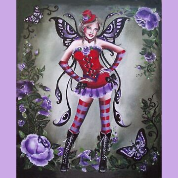 The goth red hat fairy tote bag by gabo2828