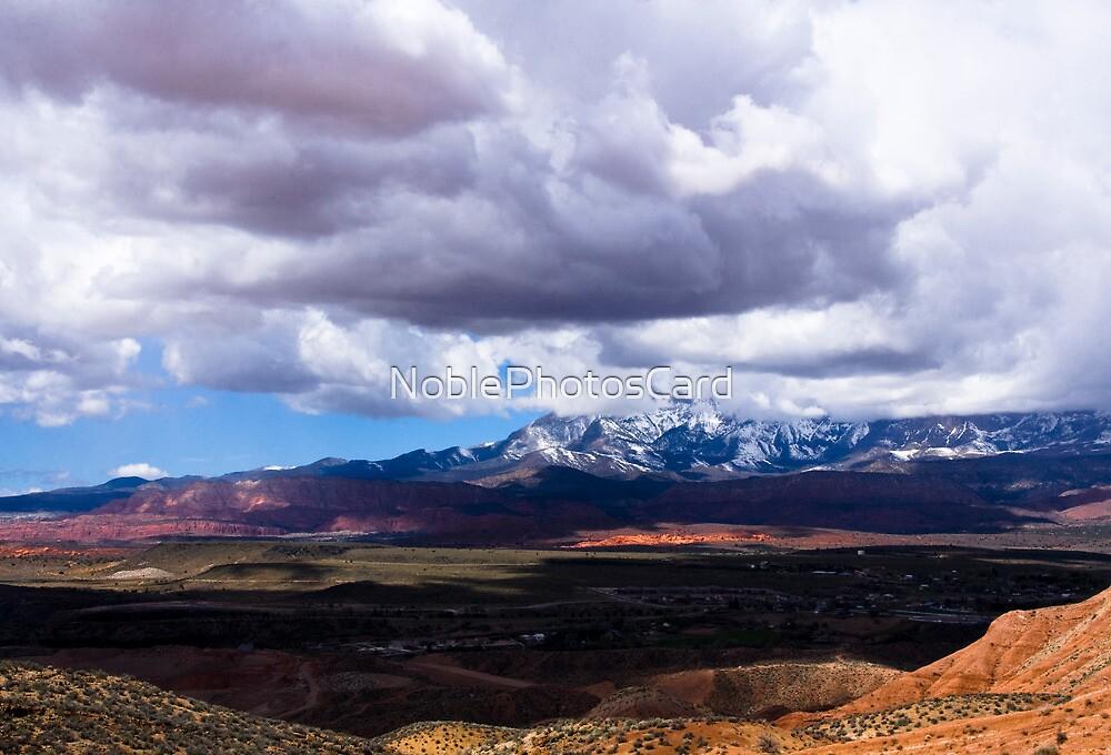 Shadows over Arizona Mountain and Desert Landscape by NoblePhotosCard