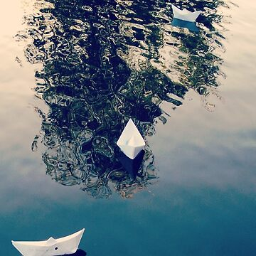 3 paper boats  by Windmiller