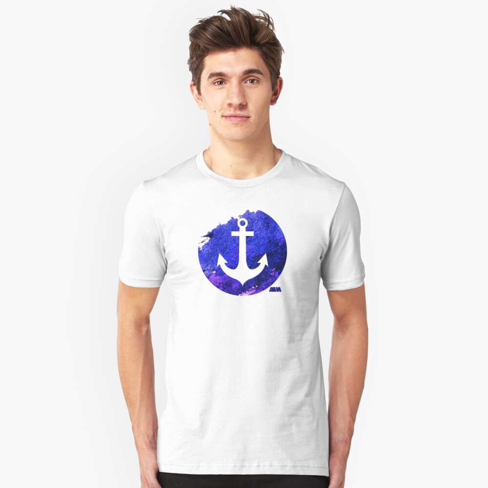 Anchor graphic centred Unisex T-Shirt Front