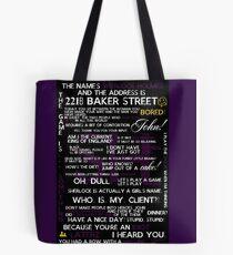 Sherlock Holmes Quotes Print Tote Bag