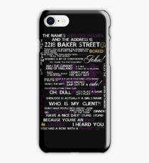 Sherlock Holmes Quotes Print iPhone Case/Skin
