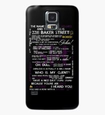 Sherlock Holmes Quotes Print Case/Skin for Samsung Galaxy