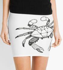 Black and White Crab  Mini Skirt