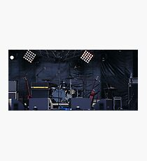 musical instruments on stage Photographic Print