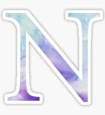 Blue Nu Watercolor Letter Sticker