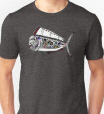 Graffiti Red Mahi Mahi Dolphinfish Unisex T-Shirt
