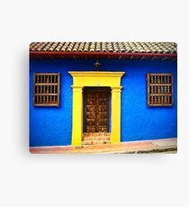 Colorful Vintage Facade Canvas Print