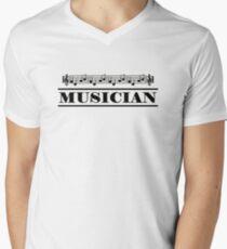 Musician (Black) Men's V-Neck T-Shirt