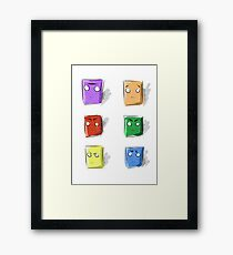 Colors, boxes and faces Framed Print
