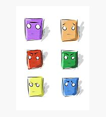 Colors, boxes and faces Photographic Print