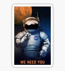 Mars- We Need You Sticker