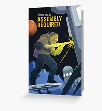 Mars - Assembly Required Greeting Card