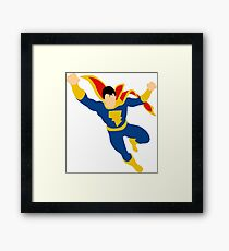 Captain Marvel Jr. Framed Print