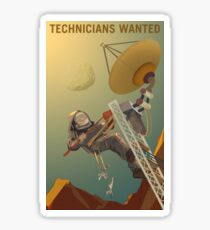 Mars - Technicians Wanted Sticker