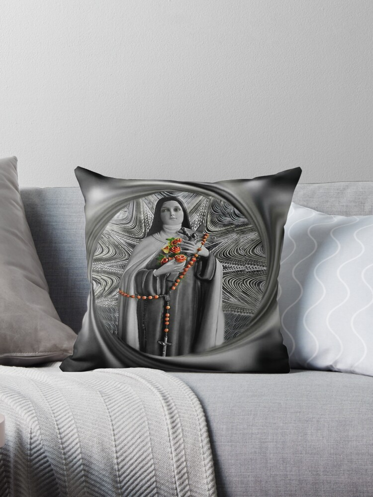 """✿♥‿♥✿ST. THERESE OF LISIEUX-ALSO KNOWN AS """"LITTLE FLOWER"""" THROW PILLOW ✿♥‿♥✿ by ✿✿ Bonita ✿✿ ђєℓℓσ"""