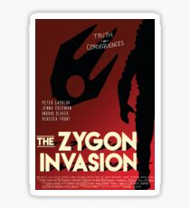 The Zygon Invasion Poster Sticker