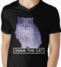 ssam the cat: 2016 [white] Men's V-Neck T-Shirt