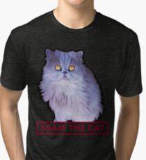 ssam the cat: 2016 [burgundy] Tri-blend T-Shirt