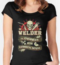 Welder - Welder An Engineer With Common Sense Women's Fitted Scoop T-Shirt