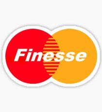 Finesse (Larger Design) Sticker