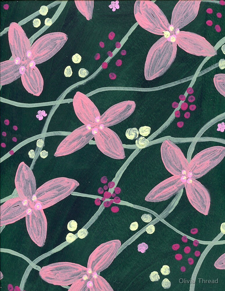 Green Floral by Olivia  Thread