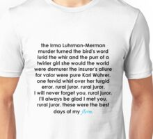 Rural Juror Lyrics Unisex T-Shirt