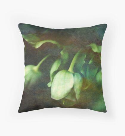 Painted Hellebore Throw Pillow