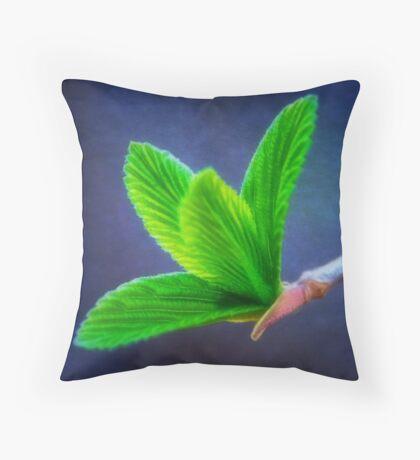 Vivacious Viburnum Leaves Throw Pillow