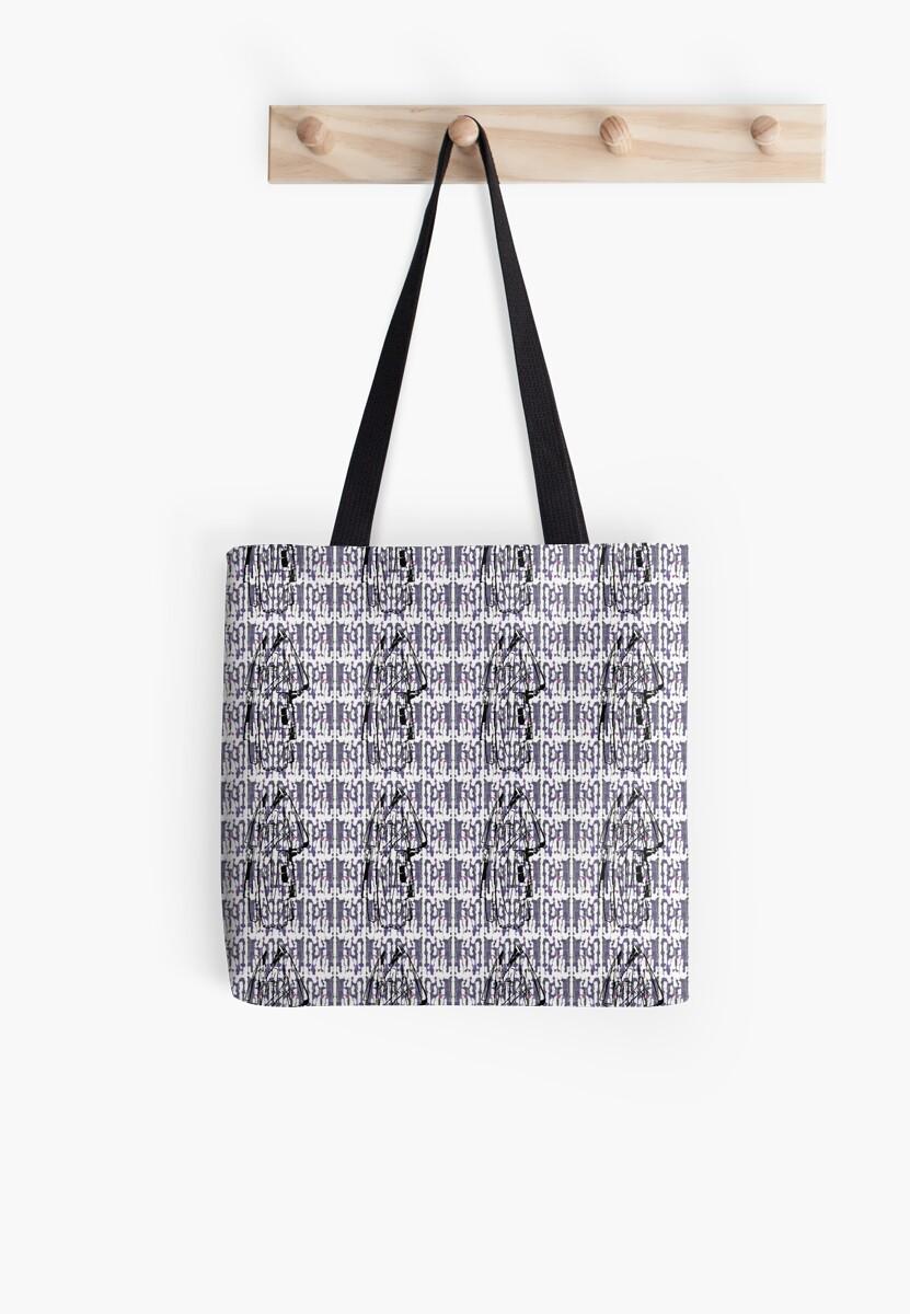 Weekend Pattern Print Tote  by starcloudsky