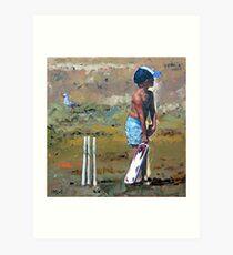 Beach Cricketer Art Print